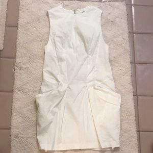 Helmet Lang white sleeveless dress